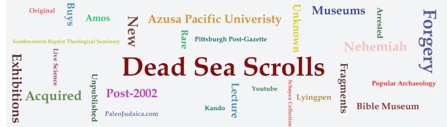 Post-2002 Dead Sea Scrolls-like Fragments Online
